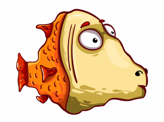 Animated red crucian